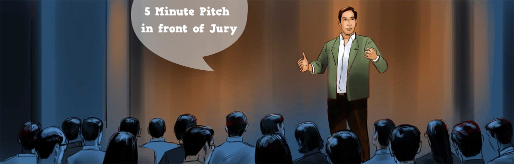 5 Minute Pitch in Front of Jury